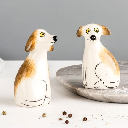Spice grinder - Scruffy Dog Salt and Pepper Shaker - HANNAH TURNER