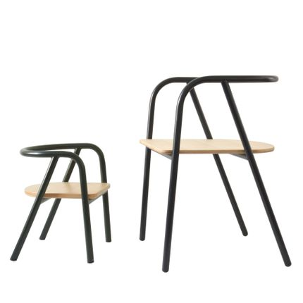 Tables et chaises pour enfants - CHAISE MÉTAL NOIR (VERSION ADULTE) - MUM AND DAD FACTORY