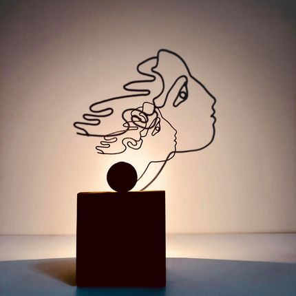 """Sculpture - """"Stella"""" chandelier - BENOÎT VIEUBLED"""
