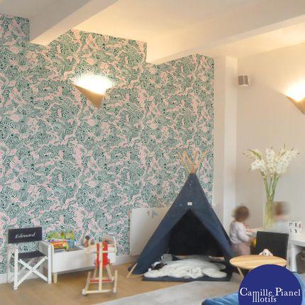 Wallpaper - Whimsical custom wallpapers - CAMILLE PIANEL MOTIFS