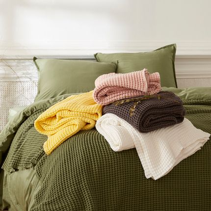Bed linens - Washed waffle cotton - DORAN SOU