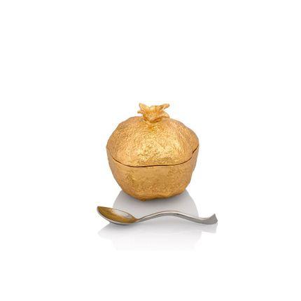 Tea / coffee accessories - Pomegranate Mini Pot w/ Spoon - MICHAEL ARAM