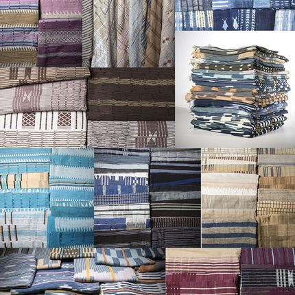 Throw blankets - Vintage traditionnal fabrics from Africa - KANEM
