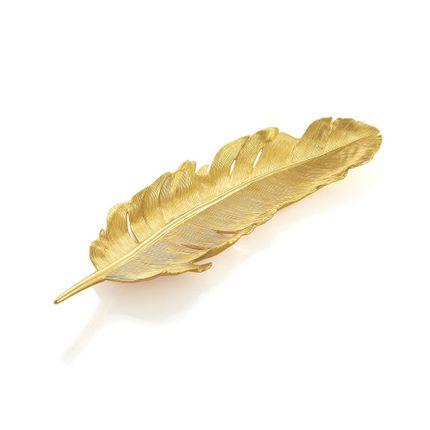Trays - Feather Tray Gold - MICHAEL ARAM