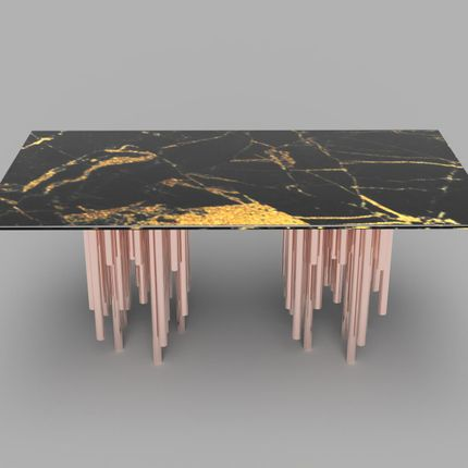Coffee tables - Double Manuka Resting Dining Table - HIJR LONDON