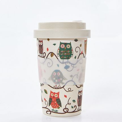 Homewear - Bamboo Mug Owl Print pack of 3 - ECO-CHIC
