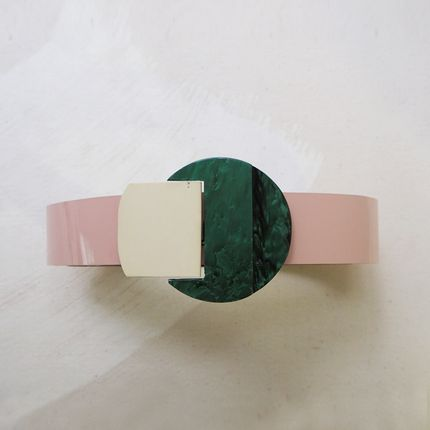 Leather goods - Belt Jewel Pink - BUTTONS PARADISE