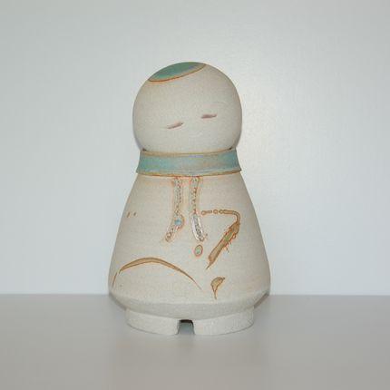 Céramique - Bouddha-Jizô - BLEU TERRE
