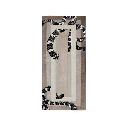 Rugs - Imperial Snake Neutral Rug  - COVET HOUSE