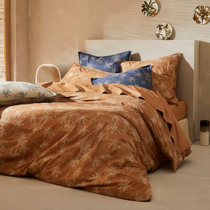 Bed linens - Washed organic cotton percale - Amour Lointain Liège Bed Linen - DORAN SOU