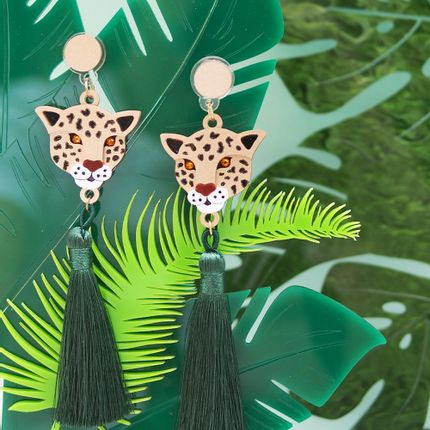 Jewelry - Leopard Tassels Earrings - FABCESSORIES COMPANY LIMITED