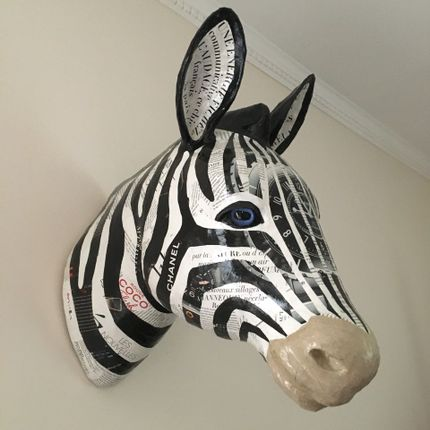 Wall decoration - Chanel Zebra Trophy - ATELIERNOVO