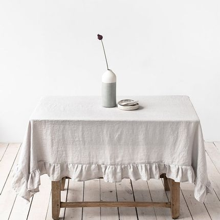 Nappes - Ruffled linen tablecloth in various colors - MAGIC LINEN