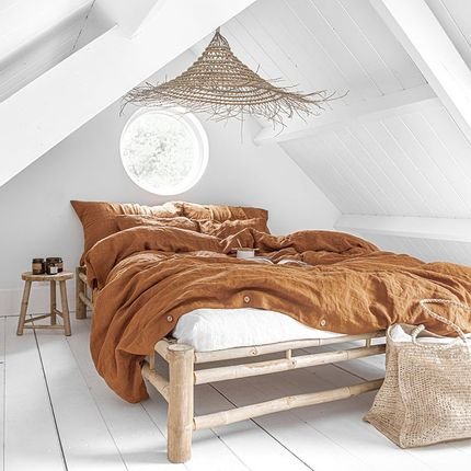 Bed linens - Linen duvet cover in Cinnamon - MAGIC LINEN