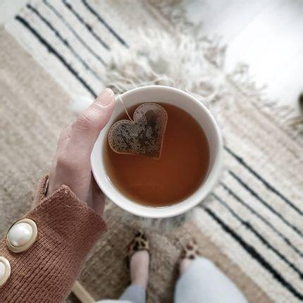 Café / thé - Sachet de thé forme coeur  - TEA HERITAGE
