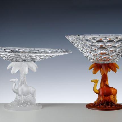 Platter, bowls - coupe chameaux  - CRISTAL DE PARIS