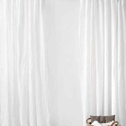 Curtains / window coverings - Tie top linen curtain panel in various colours - MAGIC LINEN