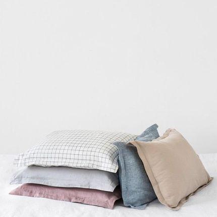 Bed linens - Sham linen pillow case in various colors - MAGIC LINEN
