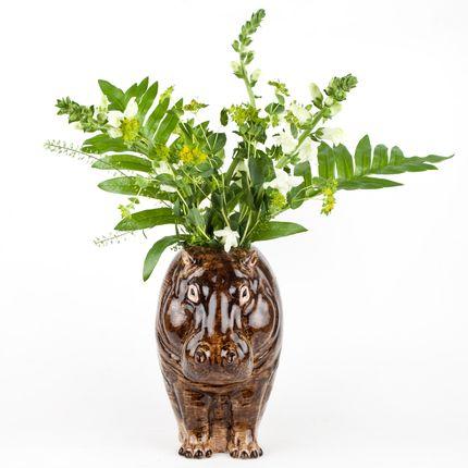 Vases - Vase fleur hippopotame - QUAIL DESIGNS