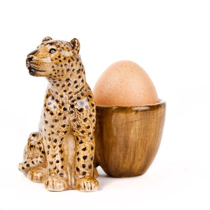 Bowls - Leopard with egg cup - QUAIL DESIGNS
