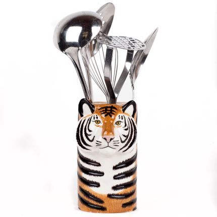 Kitchen utensils - Tiger Utensil pot - QUAIL DESIGNS