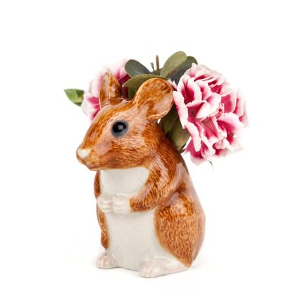 Vases - Wood mouse bud vase - QUAIL DESIGNS