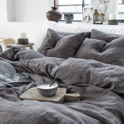 Bed linens - Linen bedding set in Charcoal Gray - MAGIC LINEN