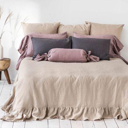Bed linens - Ruffled linen duvet cover - MAGIC LINEN