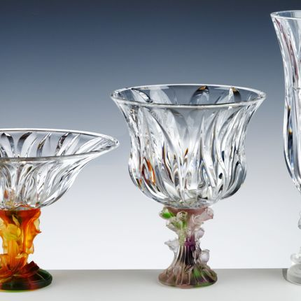 Crystalware - ITEMS WITH MOTLEN GLASS FOOT - CRISTAL DE PARIS