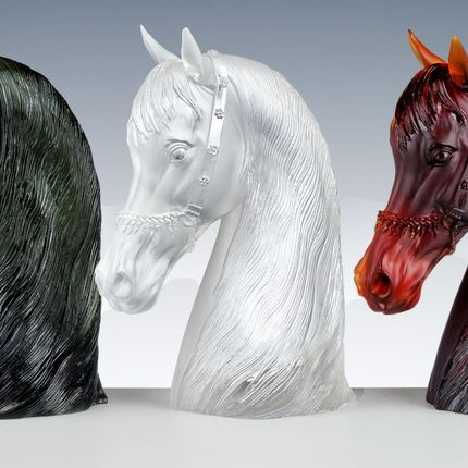 Art glass - ROYAL ARABIC HORSE - CRISTAL DE PARIS
