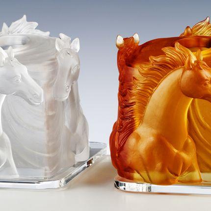 Towel racks - TOWEL BOX HORSES - CRISTAL DE PARIS