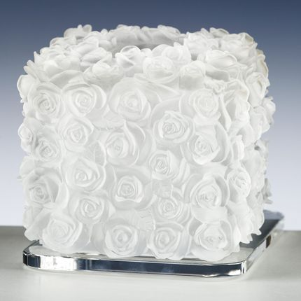 Porte serviettes - TOWEL BOX ROSES - CRISTAL DE PARIS