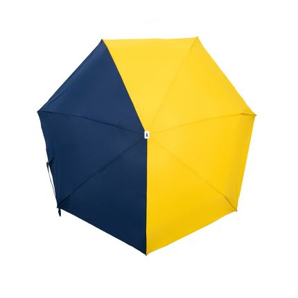 Leather goods - bicolour micro-umbrella - yellow & navy - Sydney  - ANATOLE