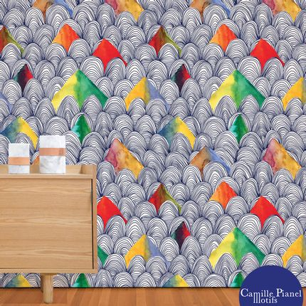 Wallpaper - Custom & Customizable Large Wallpaper - CAMILLE PIANEL MOTIFS