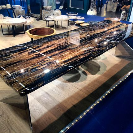 Tables - PETRIFIED WOOD | Dining tables of petrified wood - XYLEIA NATURAL INTERIORS
