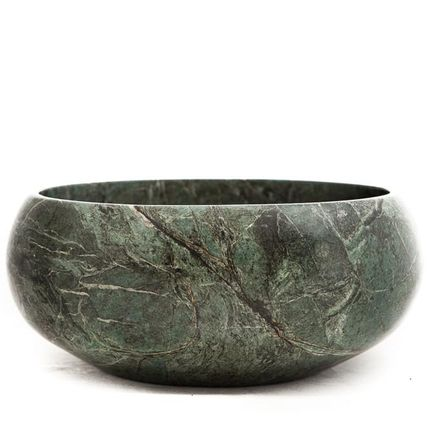Decorative objects - Bowl green granite - SIROCCOLIVING APS