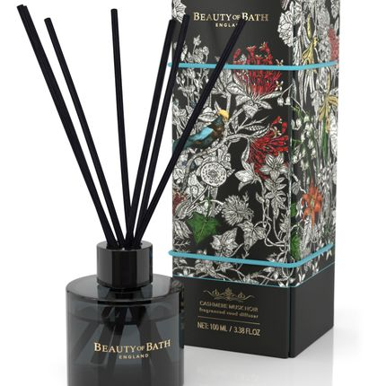 Scent diffusers - Beauty of Bath Reed Diffuser - Cashmere Musk Noir - THE SOMERSET TOILERTY COMPANY