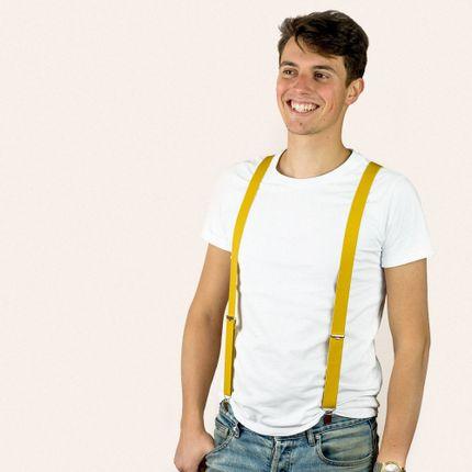 Ready-to-wear - Skinny clip-on braces – Yellow - BERTELLES