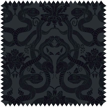 Fabrics - ANACONDA Cut-Velvet - Noir - HOUSE OF HACKNEY