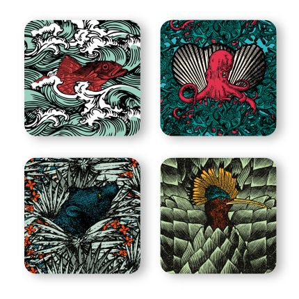 Decorative objects - SAFARI coasters - GANGZAÏ