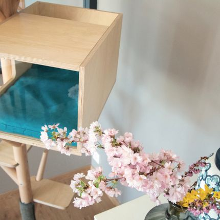 Shelves - Scandinavian cat tree with maisonnette - EDEN & MITAINE
