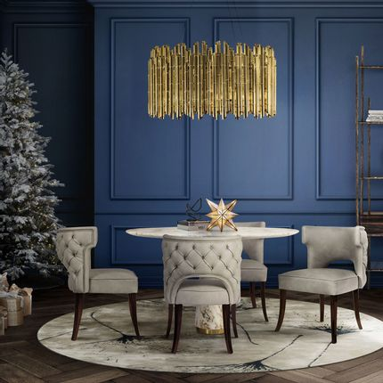 Chairs - KANSAS Dining Chair - Classic Blue, Pantone Colour of the Year 2020 - BRABBU DESIGN FORCES