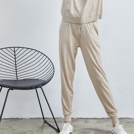 Homewear - Cashmere knitted jogging trousers - SANDRIVER CASHMERE
