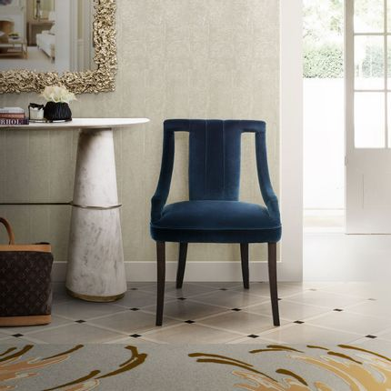 Chairs - CAYO Classic Blue Dining Chair - Pantone Colour of the Year 2020 - BRABBU DESIGN FORCES