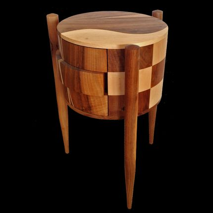 "Night tables - CYLINDRICAL FURNITURE ""EMMA"" - ATELIER DANIEL PELEGRIN"