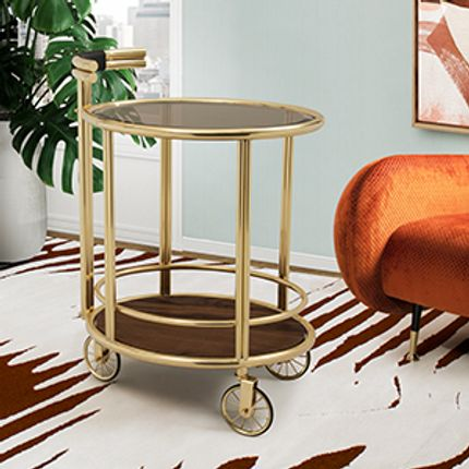 Tables - Baughman | Bar Cart - ESSENTIAL HOME