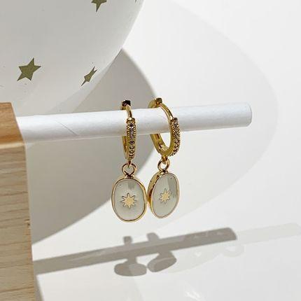 Jewelry - MINI CRÉOLES CAMÉE SOLEIL - J'AI EPOUSE UNE PERLE
