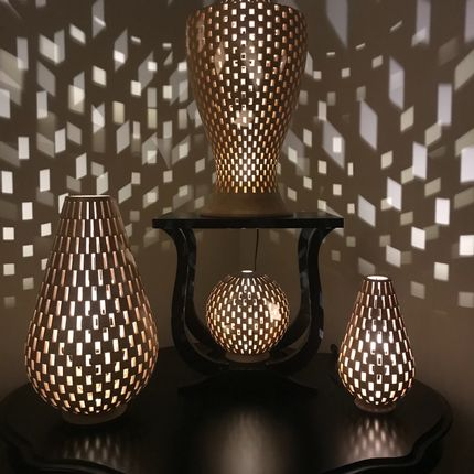 Table lamps - YVES PIERART - LAMPS & LIGHTING IN TURNED WOOD  - MAD' IN EUROPE