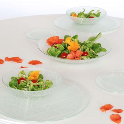Assiettes de reception - Vaisselle feuillage - CLAIRE LANGE -  KALEIDOSCO