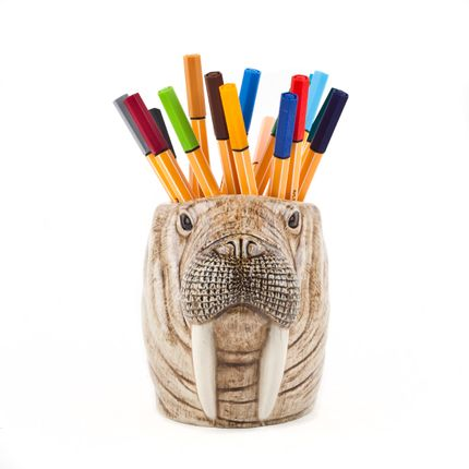 Ceramic - Walrus pen pot - QUAIL DESIGNS